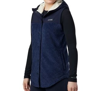 Columbia women's spring vest with lined hood